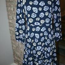 Ann Taylor Loft Petite Outlet Womens Blue Floral Shift Dress Sz Sp Photo