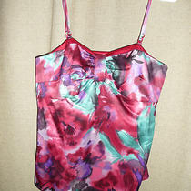 Ann Taylor Loft  Petites 10p.spaghetti Strap  Red Purple Aqua Polyester Blouse  Photo