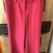 Ann Taylor Loft Pink Marisa Dress/career Pants Sz 8 Wool Blend Wide Leg Ex Cond Photo