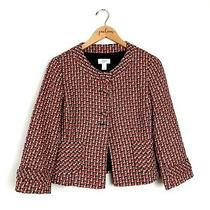 Ann Taylor Loft Red Brown Wool Blend Blazer Jacket Size 6 S Photo