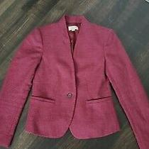 Ann Taylor Loft Red Suit Jacket Blazer Size 00p Photo