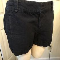 Ann Taylor Loft Shorts Size 8 Dark Blue Cuff Hem Waist 36 Inseam 3.75 1 75 Photo