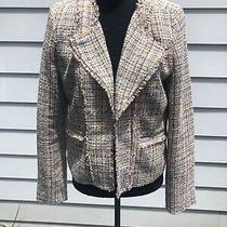 Ann Taylor Loft Size 8 Blazer Jacket Pastel Tweed Open Front Photo