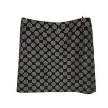 Ann Taylor Loft Textured Weave Straight Skirt Size 8 Black White Photo