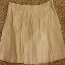 Ann Taylor Loft White Cotton Skirt -- Size 0 Nwt Photo