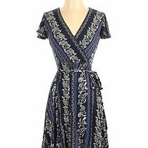 Ann Taylor Loft Women Blue Casual Dress 00 Petites Photo