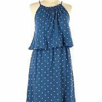 Ann Taylor Loft Women Blue Casual Dress L Photo