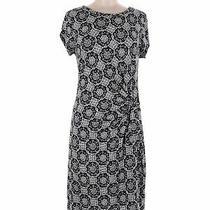 Ann Taylor Loft Women Blue Casual Dress M Photo