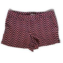 Ann Taylor Loft Women's Shorts Size 12  Riviera Pink Blue Chevron Print Cotton Photo