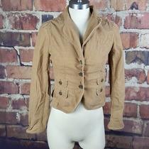 Ann Taylor Loft Womens Corduroy Jacket Size 4 Blazer 3 Button Long Sleeve 205 Photo