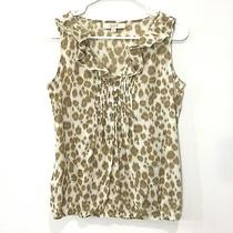 Ann Taylor Loft Womens Sleeveless Tank Top Blouse Ruffle v-Neck Size Xs Photo