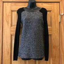 Ann Taylor Loft Wool Blend Tweed & Ribbed Sweater Size Xs Photo
