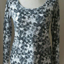 Ann Taylor Long Sleeve Black/white Shirt Pullover Cotton Blend Soft Top Small Photo