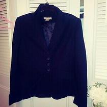 Ann Taylor Misses Black 4 Button Blazer Suit Jacket Lined Size 6 Photo