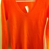 Ann Taylor  Orange Cashmere Sweater Size Xs Nwt/perfect Gift Photo