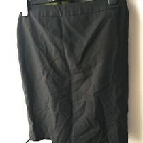 Ann Taylor Petite 2p Black Knee Length Skirt (U11) Photo