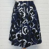 Ann Taylor Purple Floral Pleated Skirt Size 8 Photo