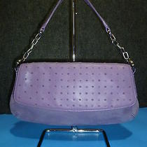Ann Taylor Purple Suede W/chain Strap Baguette / Shoulder Bag Purse New  Photo