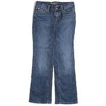 Ann Taylor Size 0 Jeans Boot Cut Medium Blue Wash Flare Denim 24 Lindsay Waist Photo