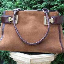 Ann Taylor Suede Leather Bag Handbag Purse Photo