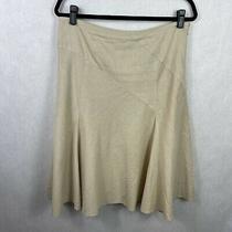 Ann Taylor Tan Linen Blend Skirt Knee Length Womens Size 8 Photo