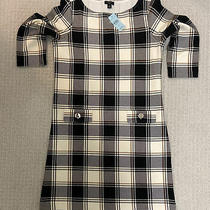 Ann Taylor Womans 3/4 Sleeve Dress Black White Plaid Size Sp Outlet 99 Photo