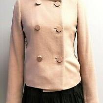 Ann Taylor Women Blush/nude Double Breasted Wool Coat Size Xs Photo