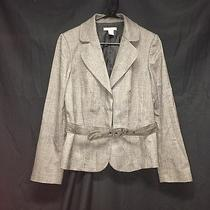 Ann Taylor Women's 2-Button Belted Wool Blazer Career Jacket Size 8 Wear to Work Photo