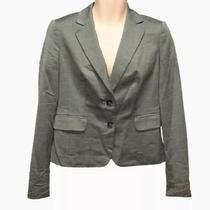 Ann Taylor Womens 2-Button Career Blazer Size 6 Grey Office Wear to Work  Photo