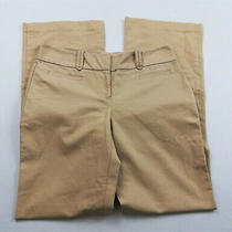 Ann Taylor Womens Pants Size 4 Signature Coffee Beige Straight Leg Work Casual Photo