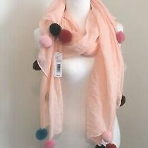 Anna & Ava Scarf / Shawl / Wrap Nwt Blush Pink Multicolor Fashion Scarf Photo