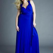 Anna Scholz Size 20 Blue Maxi  Dress   Photo