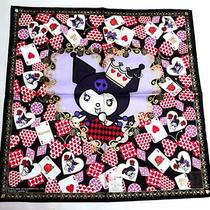 Anna Sui X Kuromi Sanrio Handkerchief Scarf Bandana Cotton Purple Black Auth New Photo