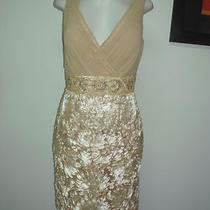Annabelle Mother of the Bride Dress Style 8359 Gold Chiffon/satin Size 12  Photo