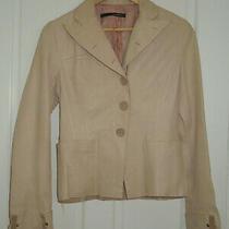 Annarita N Softest Leather Blush Coloured Jacket. Size 44 Fits Around a 12  Photo