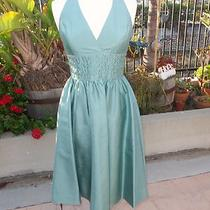 Anne Klein 100% Silk Formal Halter Dress Photo