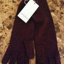 Anne Klein 2 Purple (Shalimar) Wool/acrylic Blend Gloves Rabbit Fur Trim Women's Photo