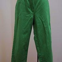 Anne Klein 8 M Pants Green Capri Cropped Colored Jeans Summer Photo