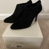 Anne Klein Black Suede Heel Women Booties Size 8.5 Photo
