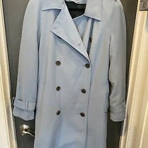 Anne Klein Blue Trench Coat W/removable Wool Lining Sz 8 Photo
