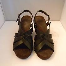 Anne Klein Brown Leather Sandals 7m With 3.75