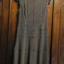Anne Klein Brown Polka Dot Fit & Flared - Nice & Easy Dress 12 Photo