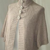 Anne Klein Button Front 3/4 Dolman Sleeve Knit Sweater Brown Soft Cardigan M Photo