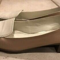 Anne Klein Daneen Women's Ivory/tan/gold  Loafers Flats Shoes Size 8.5 Photo