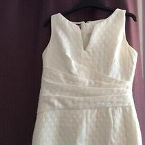 Anne Klein Dress Fitted Winter White Sleeveless Size 8 Dress Lined Photo