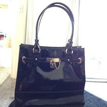 Anne Klein Handbag Black Patent Leather