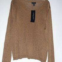 / Anne Klein Ii Plus -Gold Sparkles -Sz 2x -Pull Over Sweater Sold 225 Nwt  Usa Photo