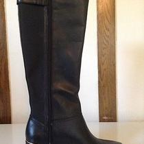 Anne Klein Juturna Black Leather Riding Boots Us Women Size 7.5 Med Width Photo