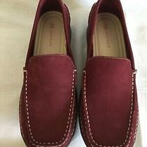 Anne Klein Kk Manny Dark Red Nubuck Leather Shoes Women's Size 8 1/2m New in Box Photo