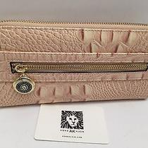 Anne Klein Ladies Walletalligator Alleycollection Blush Clutch New  Photo